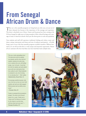 African Dance and Drum flyer