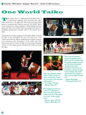 One World Taiko flyer